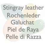 Stingray leather components