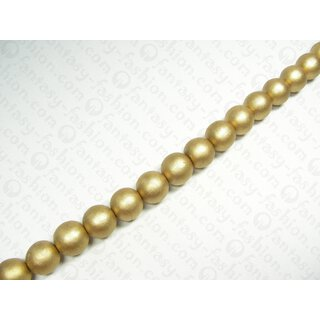 Wood with Goldleaf laminated round beads 20mm