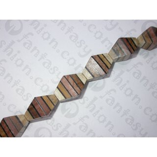 Laminated wood, double pyramid ca.31x19mm ES