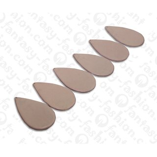 Nappa leather Flat Teardrop 55x4mm_Light Pink