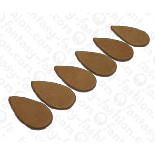 Nappa leather Flat Teardrop 55x4mm_Brown