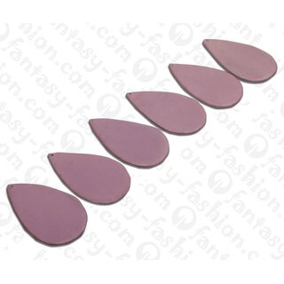 Nappa leather Flat Teardrop 55x4mm_Lavender