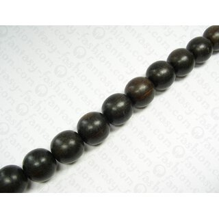 BLACK ebony Ball Beads 30mm
