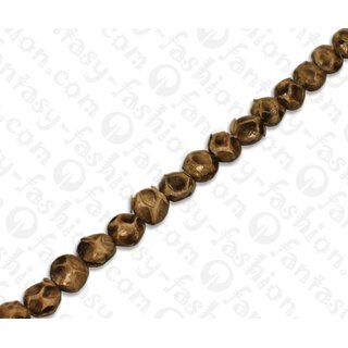 PY 010 Python leather Ufo 17mm Caramel / 24pcs.