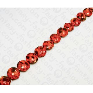 PY 021 Python leather Ufo 25mm Burgundy Shiny / 16 pcs.