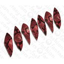 PY 127 Python leather Long Twisted Leaf 100x30x3mm Pink...