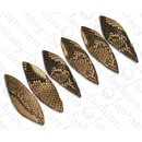 Python Leder Long Twisted Leaf 100x30x3mm Natural Matte /...