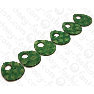 Fischleder flache Tropfen with Calar 50x3mm Green Matte