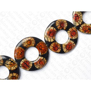 resin black with santol cracking inlay donut 70x10mm hole 30mm