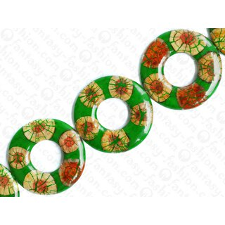 resin green with santol cracking inlay donut 70x10mm hole 30mm