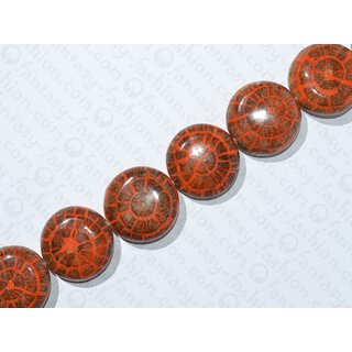 resin orange with Albutra inslay UFO 37x14mm