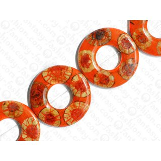 resin orange with santol cracking inlay donut 70x10mm hole 30mm