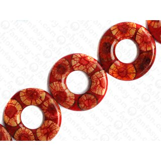 resin red with santol cracking inlay donut 70x10mm hole 30mm