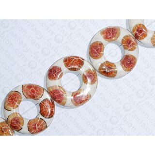 resin white with santol cracking inlay donut 70x10mm hole 30mm
