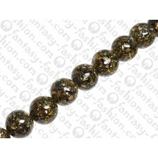 resin with shell aggregates 20mm round beads