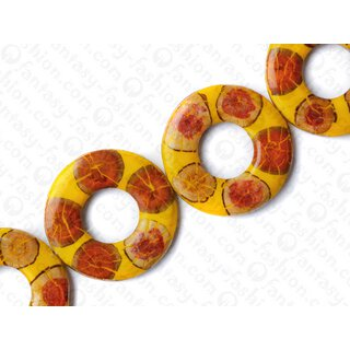 resin yellow with santol cracking inlay donut 70x10mm hole 30mm