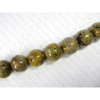 Resin ball beads laminated tiger leaf ca.25mm ISC