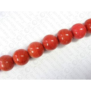 Resin ball beads laminated maize dyed red ca.25mm