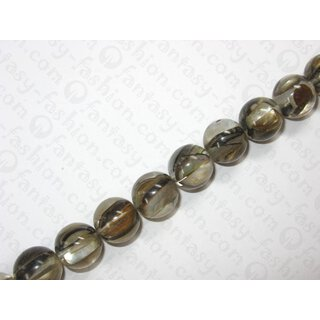 Resin ball bead with brownlip shell inlay,ca.18mm