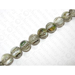 Resin ball bead with grennshell inlay,ca.18mm