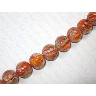 Resin ball bead with redlip inlay,ca.22mm