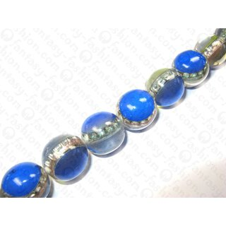 Resin ball bead with Crown Cap Blue ca. 25mm