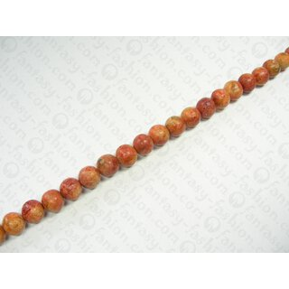 Apple coral stone beads ca. 15mm / 1 String (40cm)