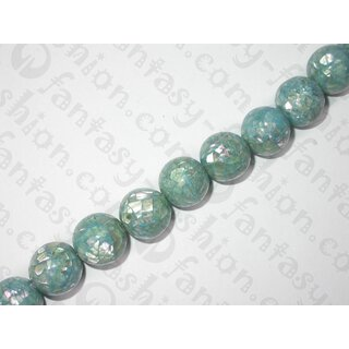 Abalone Cracking-Ball turquoise blue ca.15mm KHS