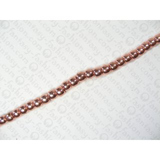 Brass round beads ca. 5 mm - Copper coated