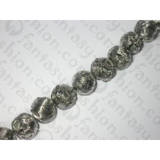 Metall wire ball silver platted, ca. 19mm